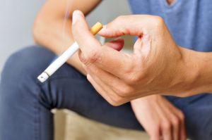 cigarette in man's hand