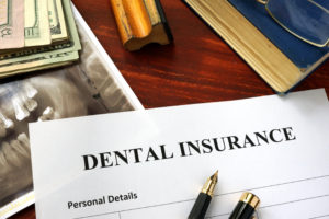 Dental insurance form on desk